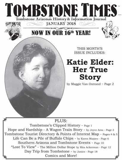 Kate Elder - her true story - January 2018 Tombstone Times